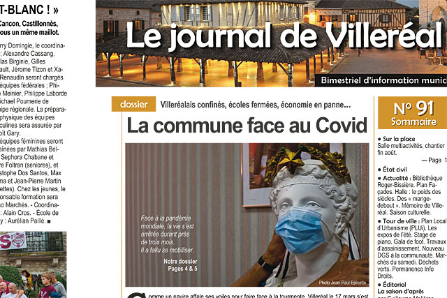 La commune face au Covid-19... Le Journal de Villeréal N°91|Photo © Jean-Paul Epinette.